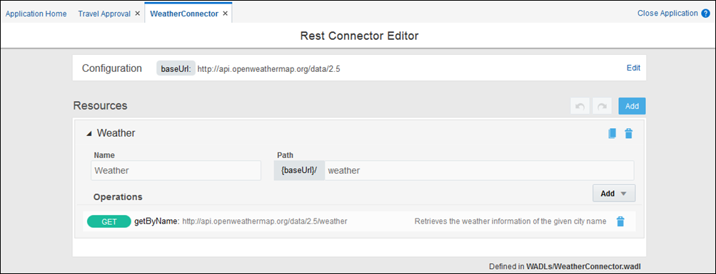 Create REST and Web Service Connectors
