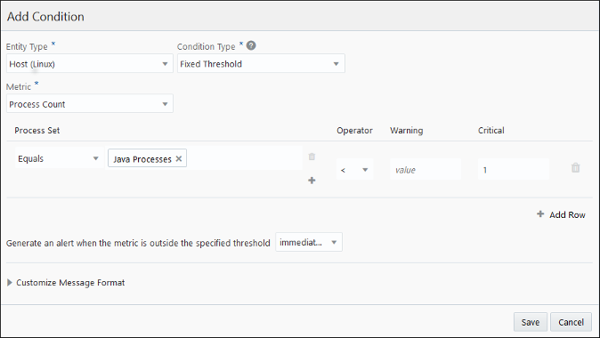 Create Alert Rules to Monitor Process Status and Resource Consumption