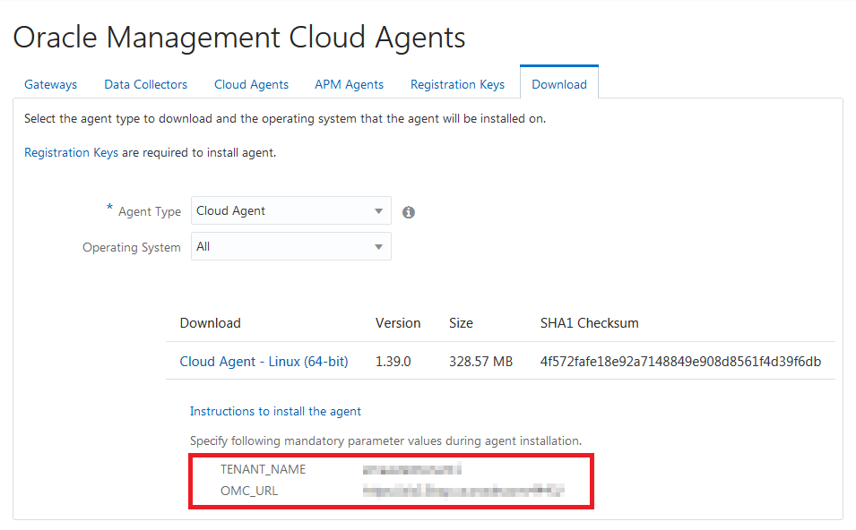 REST API for Oracle Management Cloud