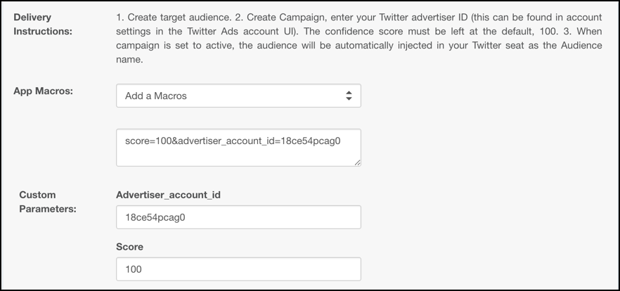 Twitter Tailored Audiences Campaign-Level App
