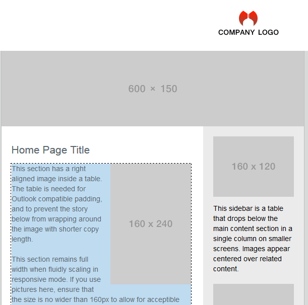 Responsive HTML Email Templates - Email table template