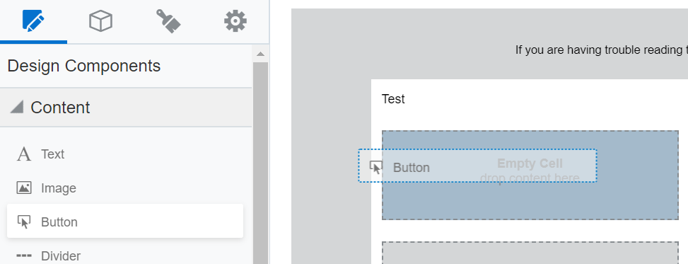 Adding buttons to emails