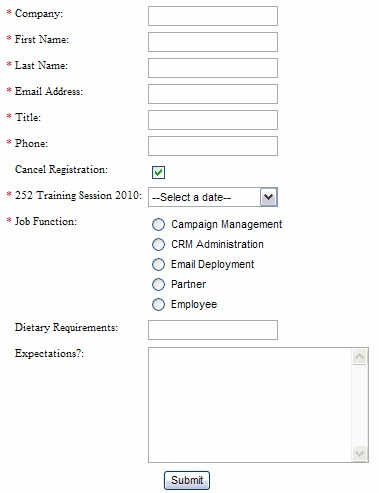 Event Feedback Form. Standardized Course Evaluation Form