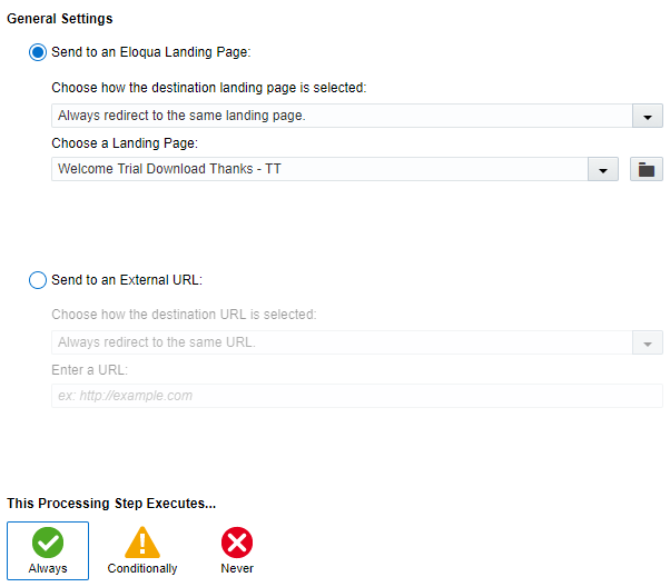 Step 2: Configuring form processing steps