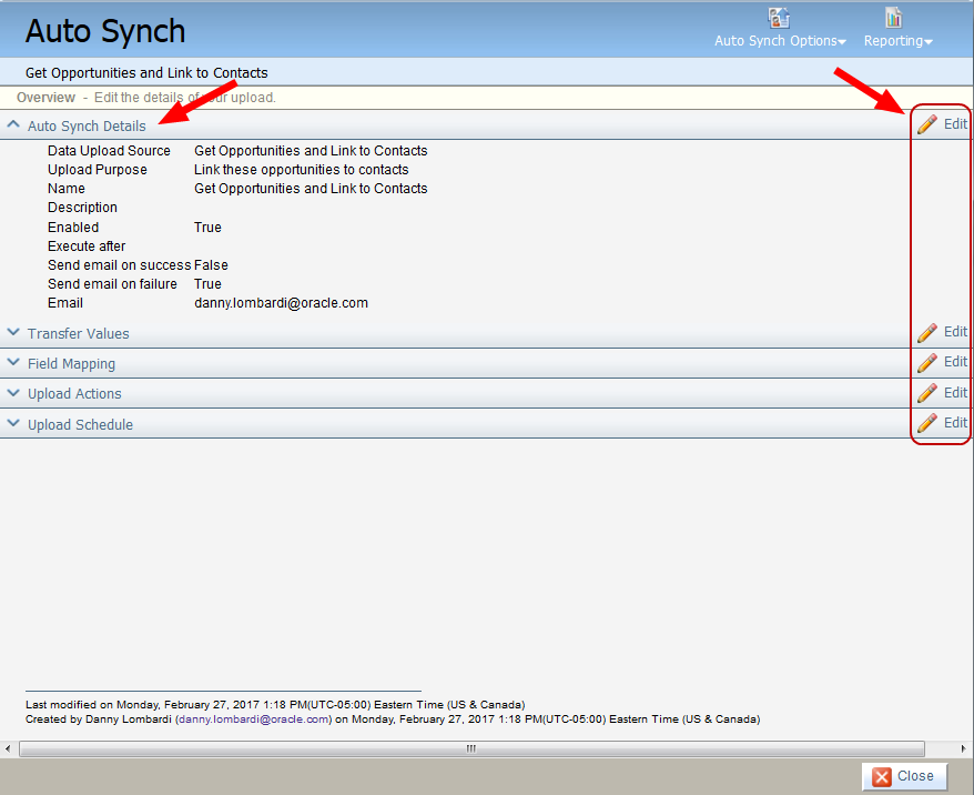 Configuring data imports from Salesforce