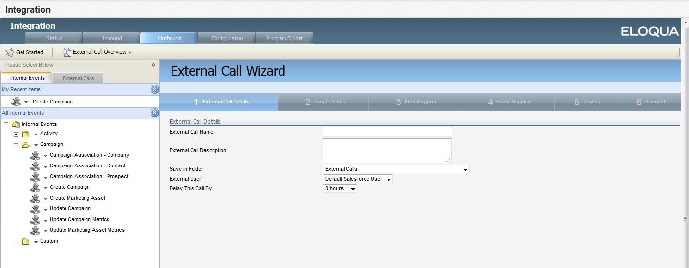 Configuring external calls for closed-loop reporting