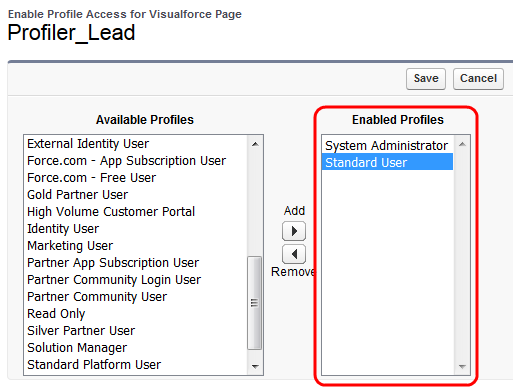 Embedding Profiler in Salesforce Classic