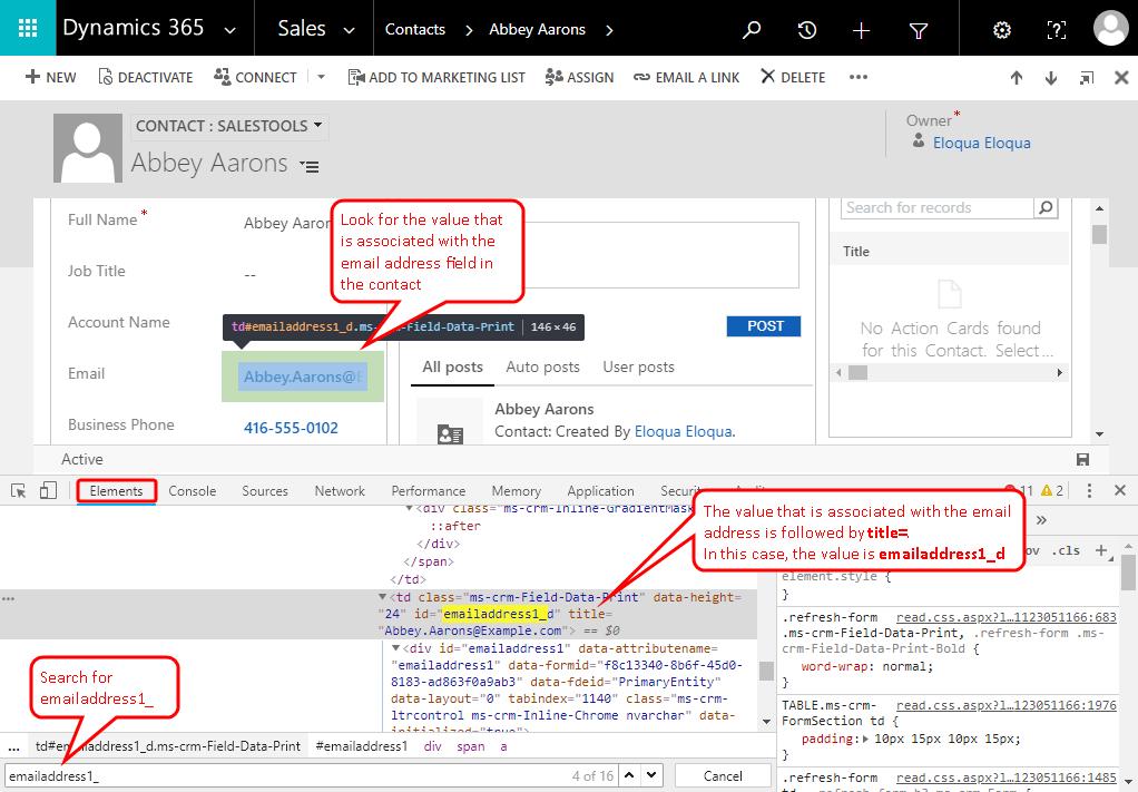 Embedding Profiler in Microsoft Dynamics 365