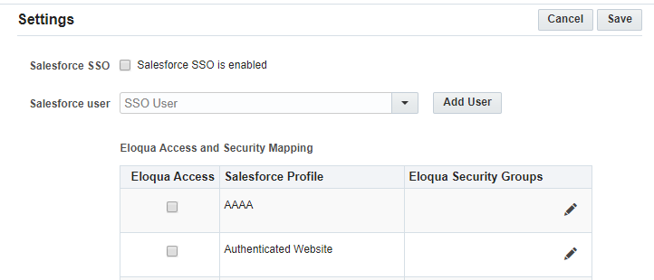 Configuring the Salesforce SSO integration