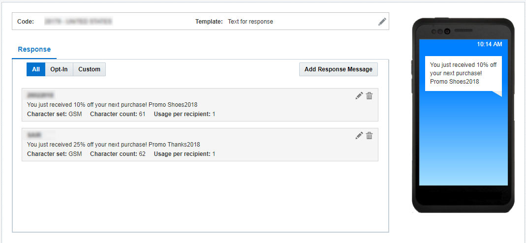 Working with SMS Message Content