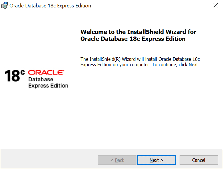 Installing Oracle Database XE