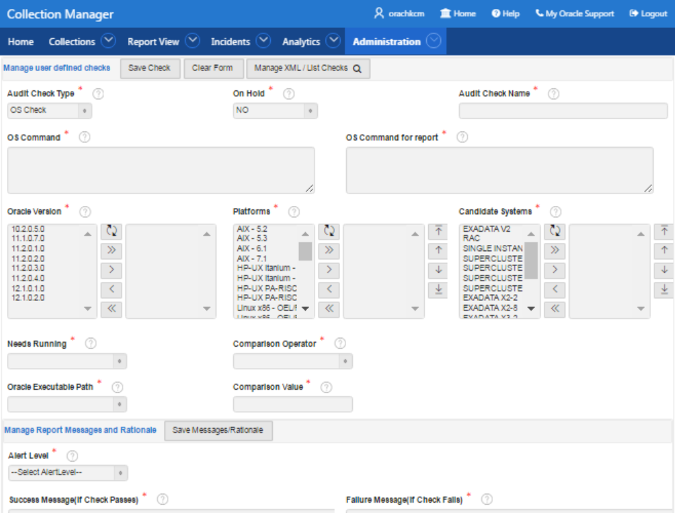 Oracle Health Check Collections Manager for Oracle Application