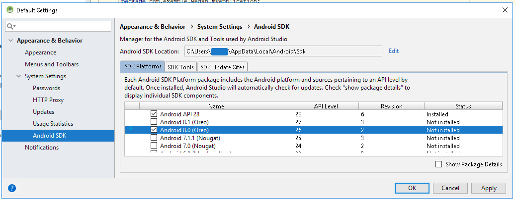 android studio install jdk mac