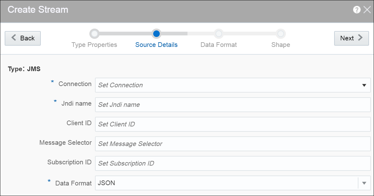 Working with Oracle Stream Analytics