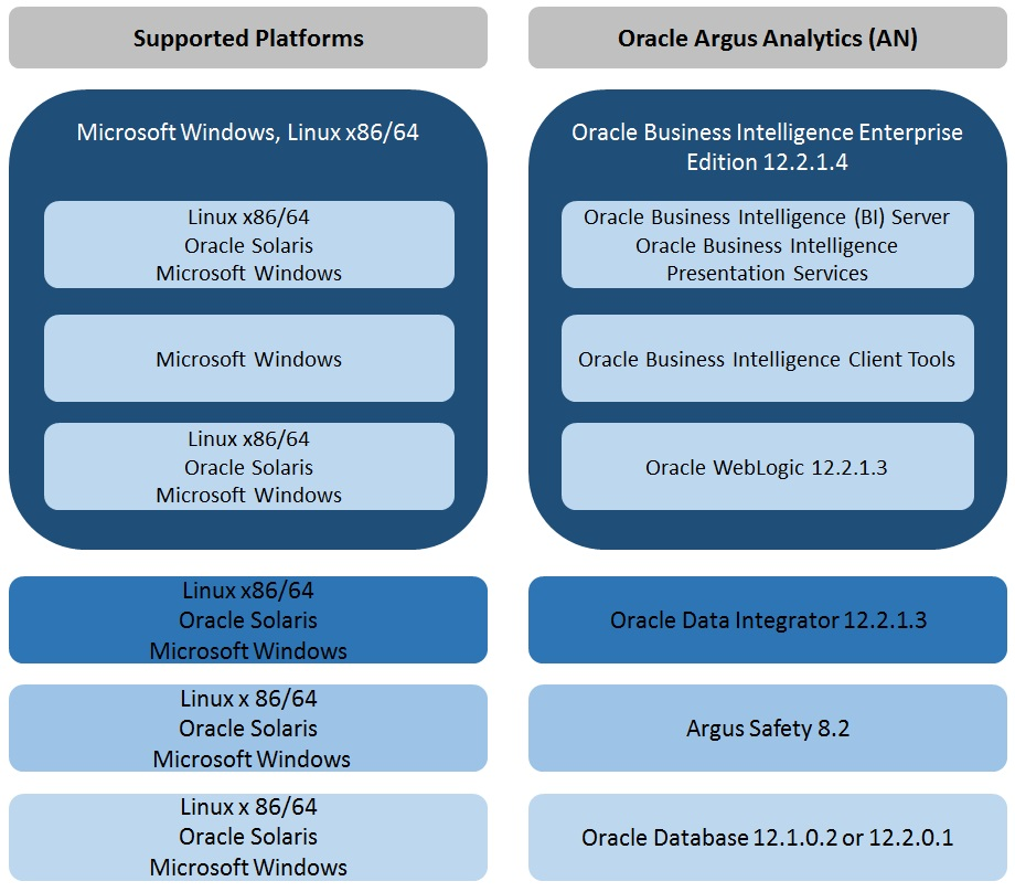Oracle Argus Analytics Requirements