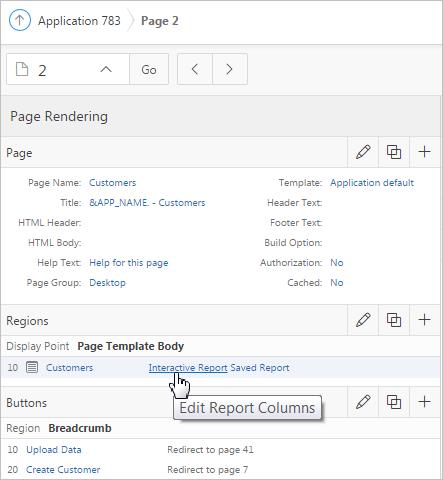 Report editing
