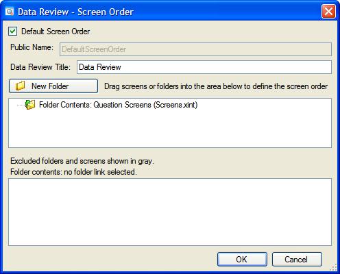 Define interview screen order