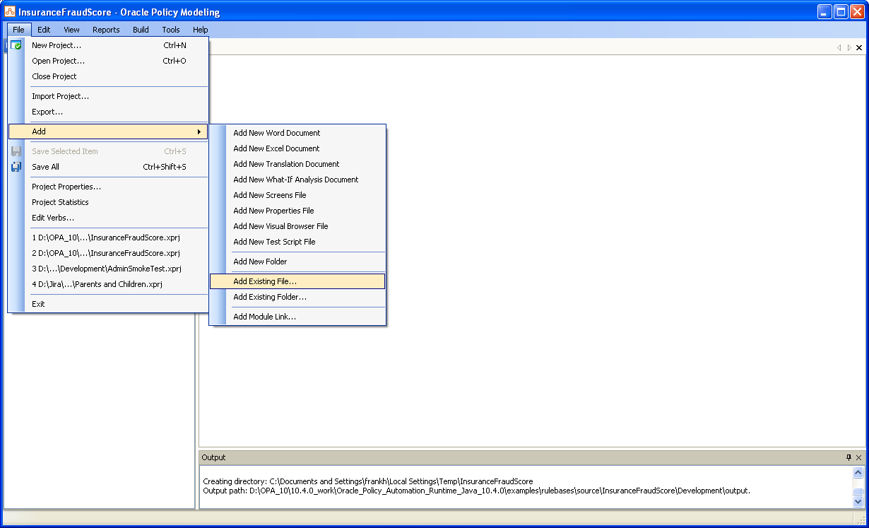 Example: Create test cases in the Batch Processor