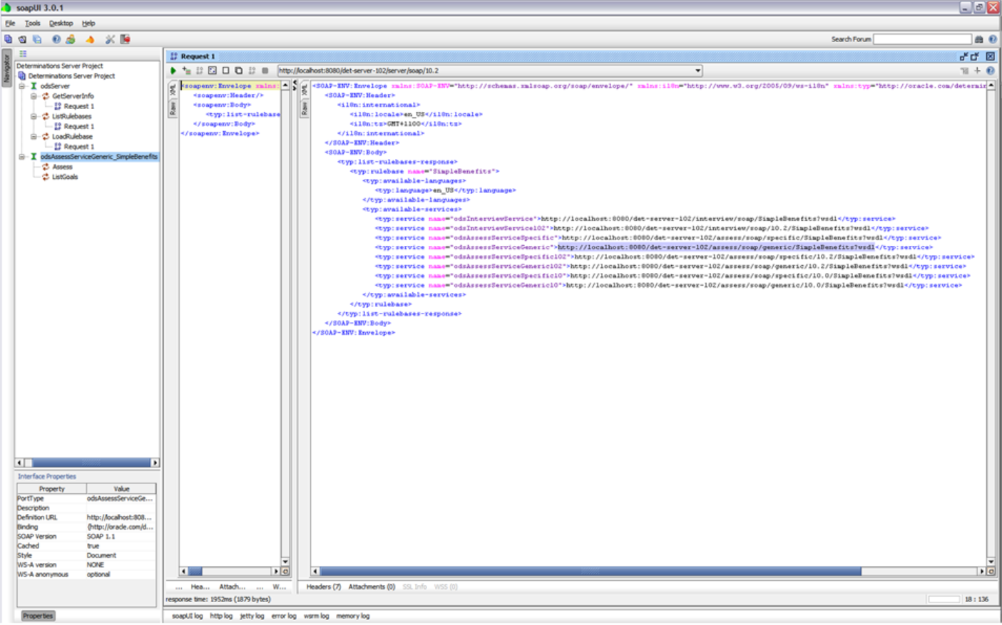 Test a rulebase using a web service