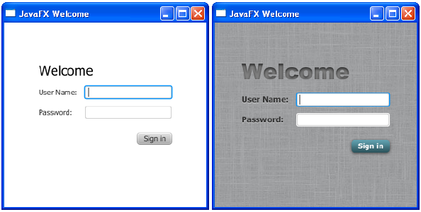 Getting Started with JavaFX: Fancy Forms with JavaFX CSS | JavaFX 2