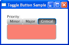 three toggle buttons and a rectangle