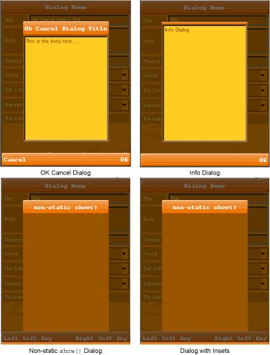 تعلم كيفية التعامل مع المكتبة Lightweight لانشاء تطبيقات ذات واجهة مستخدم رسومية جذابة للجوالات Dialogs