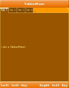 تعلم كيفية التعامل مع المكتبة Lightweight لانشاء تطبيقات ذات واجهة مستخدم رسومية جذابة للجوالات TabbedPane
