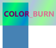 The visual effect of blending color,  gradient and text