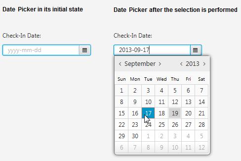 Datepicker date format