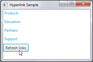 The hyperlinks are refreshed.