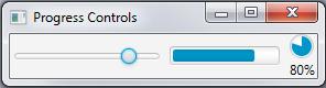 A slider, a progress bar , and a progress indicatior.