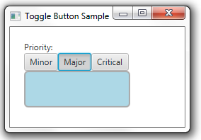 The Major toggle button is selected