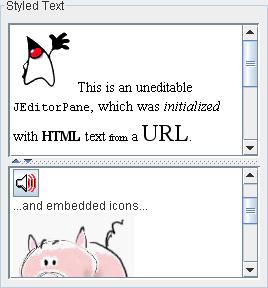 Text pane Image