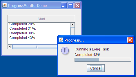 How to Use Progress Bars (The Java™ Tutorials > Creating a