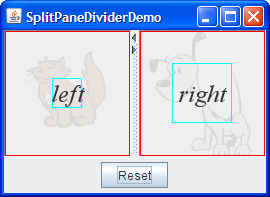 How to Use Split Panes (The Java™ Tutorials > Creating a GUI