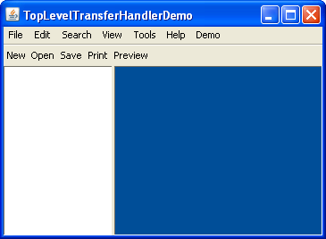 Top-Level Drop (The Java™ Tutorials > Creating a GUI With