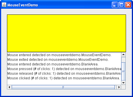 How to Write a Mouse Listener (The Java™ Tutorials > Creating a GUI