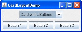 how to use cardlayout the java tutorials creating a gui with jfc