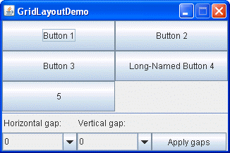 How to Use GridLayout (The Java™ Tutorials > Creating a GUI With JFC