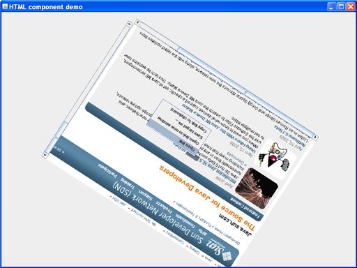 HTML component demo screen shot