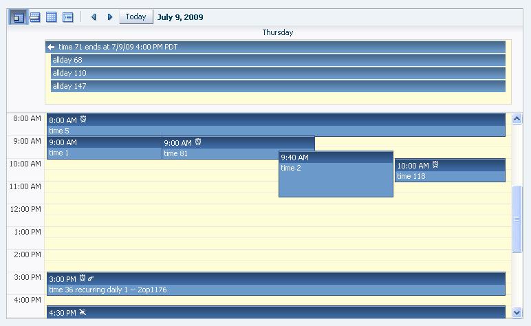 ADF RichClient API - <af:calendar>