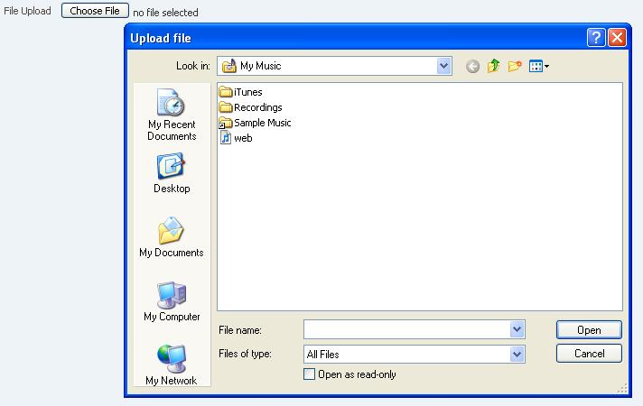 ADF RichClient API - <af:inputFile>