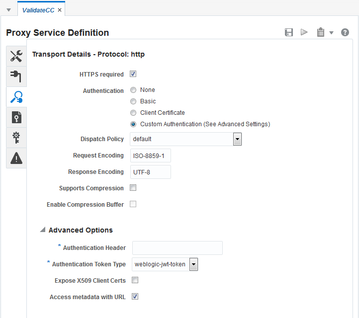 Creating and Configuring Proxy Services