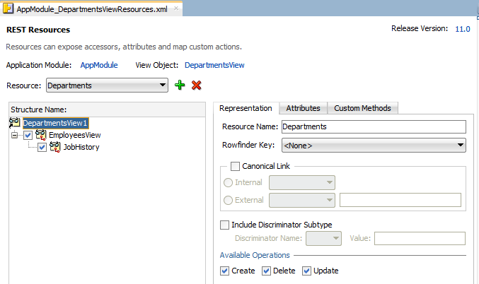 Consuming RESTful Web Services Using the ADF REST Framework