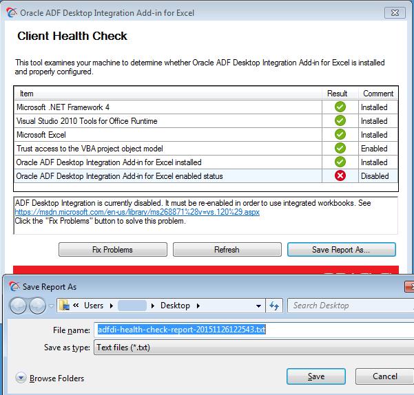 Administering ADF Desktop Integration