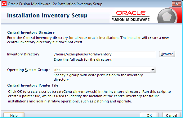 Oracle Universal Installer Installation Screens