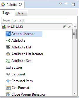 Creating the MAF AMX User Interface