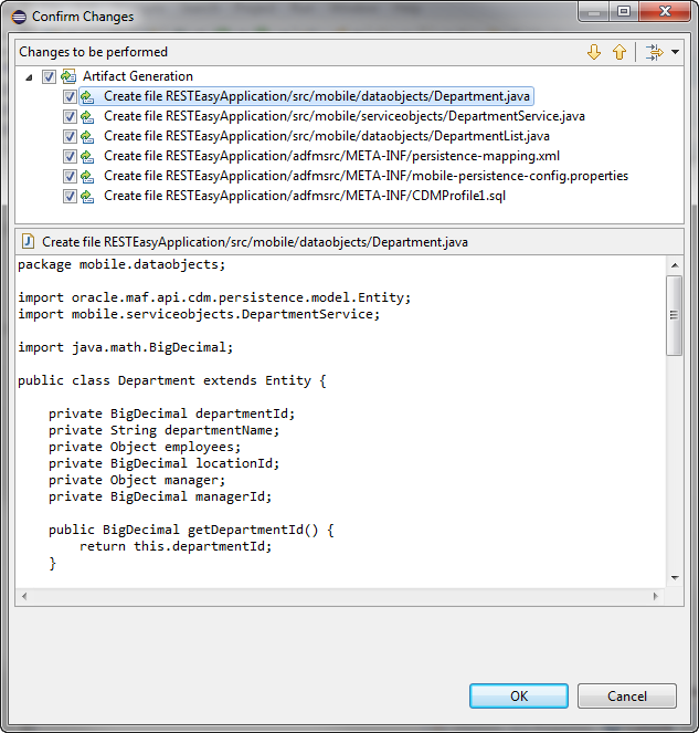 Creating the Client Data Model in a MAF Application
