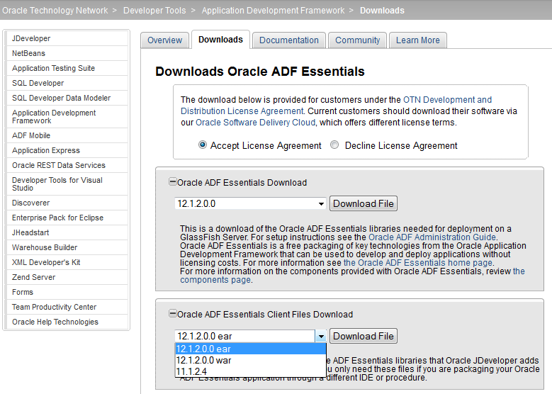 Oracle ADF Tools Support
